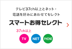 テレビ30ch以上とネット・電話を好みにあわせてセレクト スマートお得セレクト